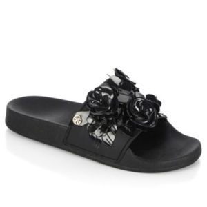 Details about  Tory Burch Black Blossom Slide 8